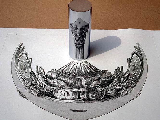 Έργα τέχνης που είναι ορατά μόνο με τη βοήθεια ενός κυλινδρικού καθρέπτη (9)