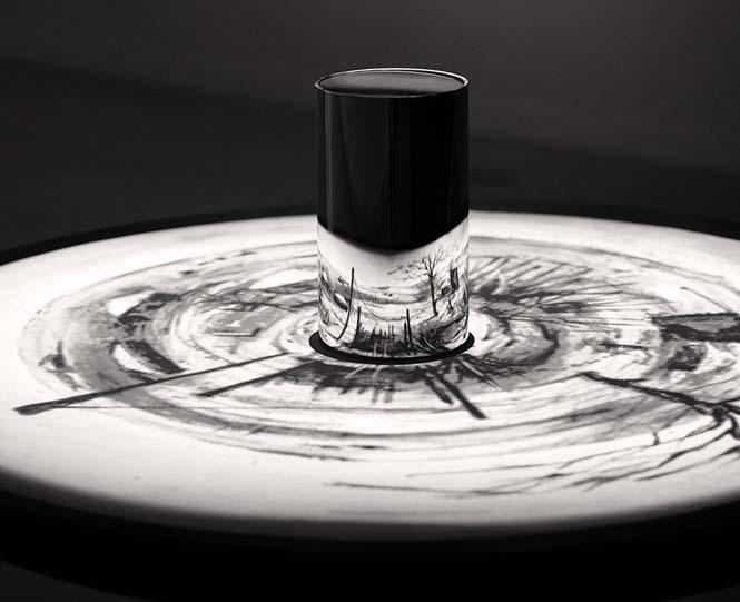 Έργα τέχνης που είναι ορατά μόνο με τη βοήθεια ενός κυλινδρικού καθρέπτη (10)