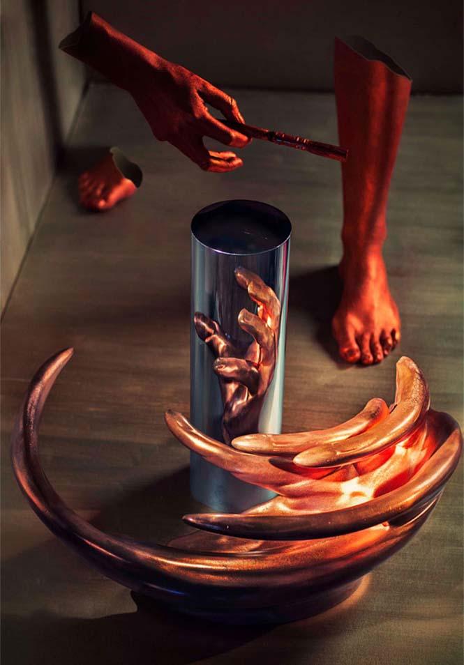 Έργα τέχνης που είναι ορατά μόνο με τη βοήθεια ενός κυλινδρικού καθρέπτη (14)