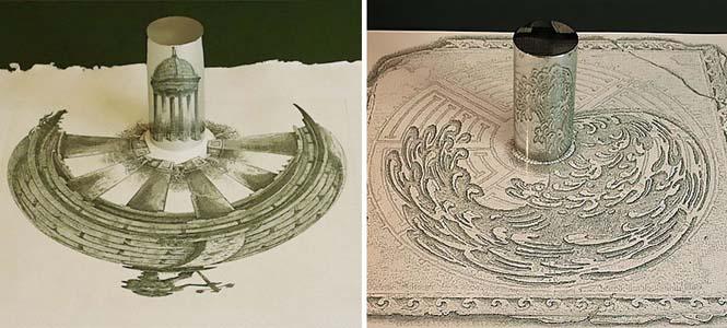 Έργα τέχνης που είναι ορατά μόνο με τη βοήθεια ενός κυλινδρικού καθρέπτη (15)
