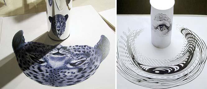 Έργα τέχνης που είναι ορατά μόνο με τη βοήθεια ενός κυλινδρικού καθρέπτη (18)
