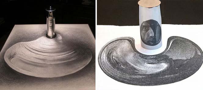 Έργα τέχνης που είναι ορατά μόνο με τη βοήθεια ενός κυλινδρικού καθρέπτη (19)