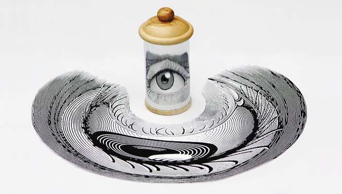 Έργα τέχνης που είναι ορατά μόνο με τη βοήθεια ενός κυλινδρικού καθρέπτη (20)