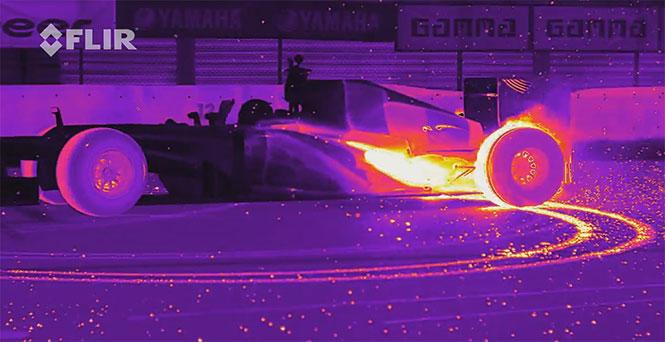 F1 με θερμική κάμερα