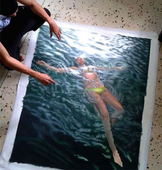 Κολυμβητές σε υπερρεαλιστικούς πίνακες ζωγραφικής (1)