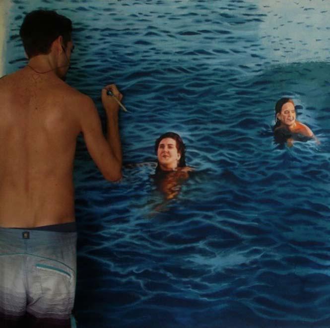 Κολυμβητές σε υπερρεαλιστικούς πίνακες ζωγραφικής (3)