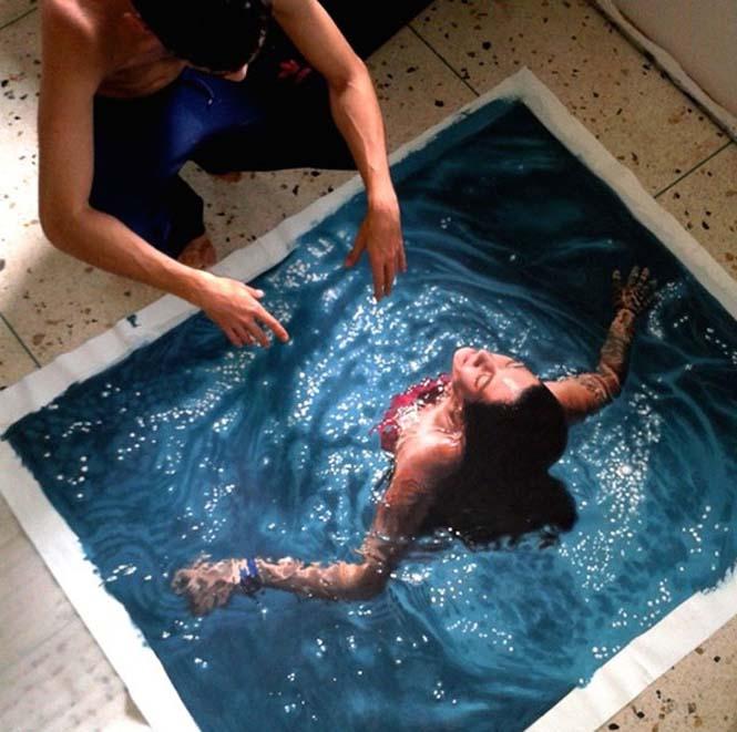 Κολυμβητές σε υπερρεαλιστικούς πίνακες ζωγραφικής (6)