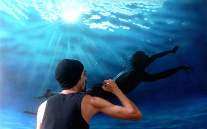 Κολυμβητές σε υπερρεαλιστικούς πίνακες ζωγραφικής (8)