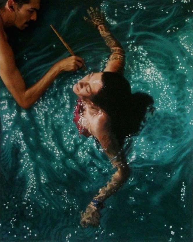 Κολυμβητές σε υπερρεαλιστικούς πίνακες ζωγραφικής (9)