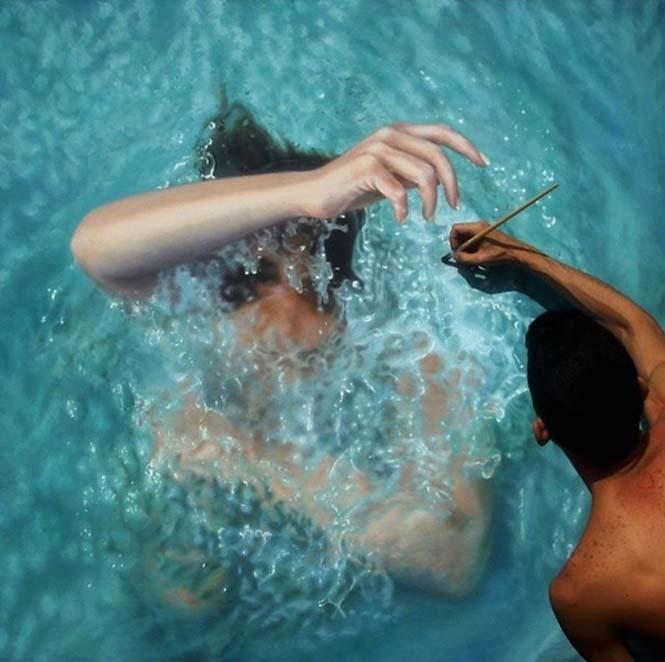 Κολυμβητές σε υπερρεαλιστικούς πίνακες ζωγραφικής (10)