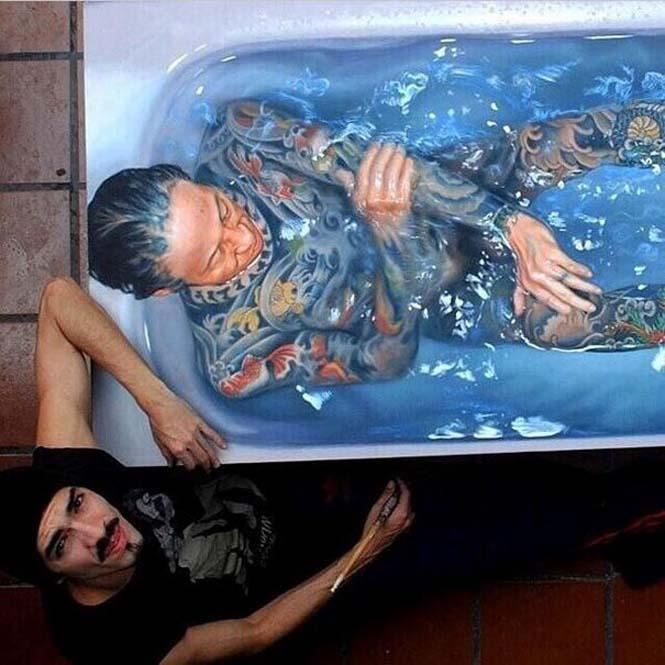 Κολυμβητές σε υπερρεαλιστικούς πίνακες ζωγραφικής (11)