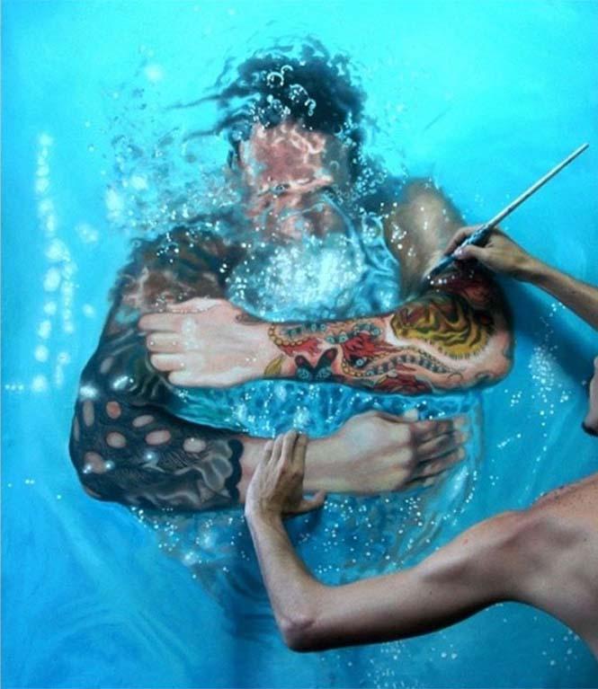 Κολυμβητές σε υπερρεαλιστικούς πίνακες ζωγραφικής (13)