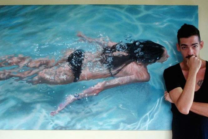 Κολυμβητές σε υπερρεαλιστικούς πίνακες ζωγραφικής (14)
