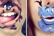Makeup artist μετατρέπει τα χείλη της σε διασκεδαστικά καρτούν (1)