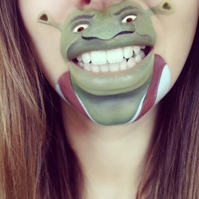 Makeup artist μετατρέπει τα χείλη της σε διασκεδαστικά καρτούν (10)