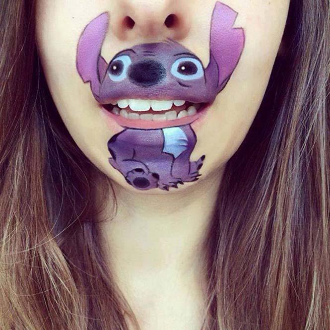 Makeup artist μετατρέπει τα χείλη της σε διασκεδαστικά καρτούν (23)