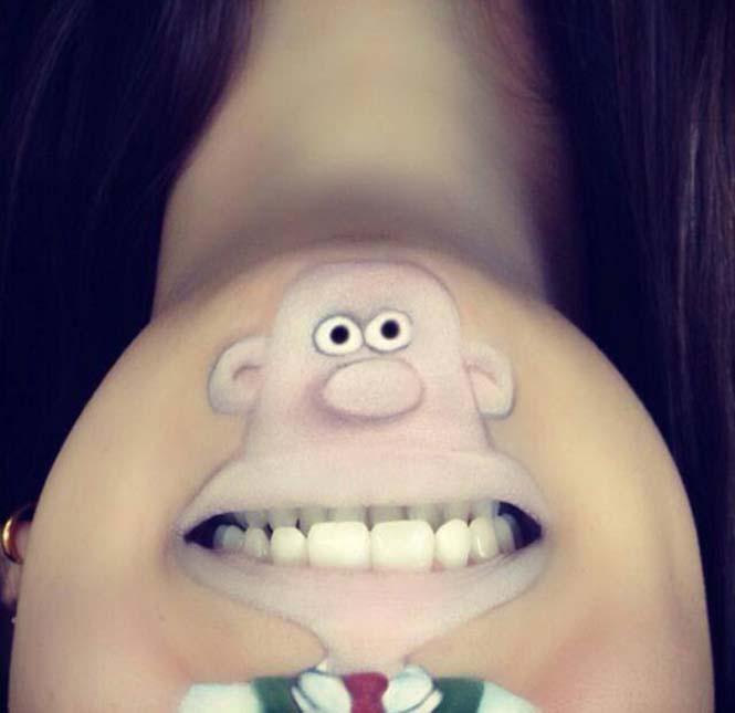 Makeup artist μετατρέπει τα χείλη της σε διασκεδαστικά καρτούν (24)