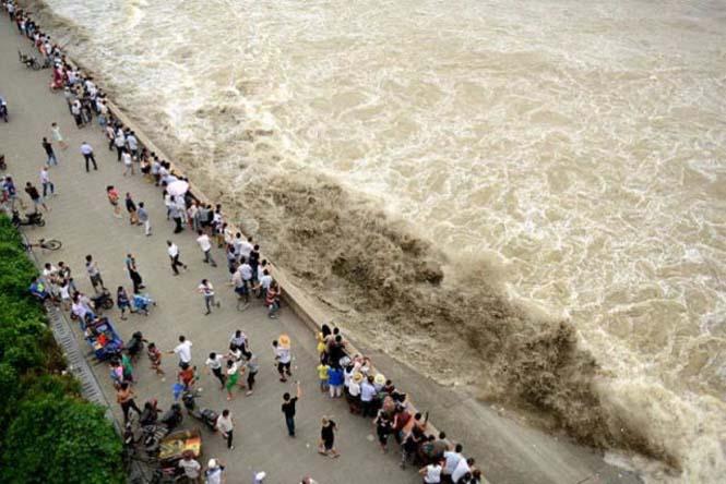 Τεράστιο παλιρροιακό κύμα στην Κίνα (4)