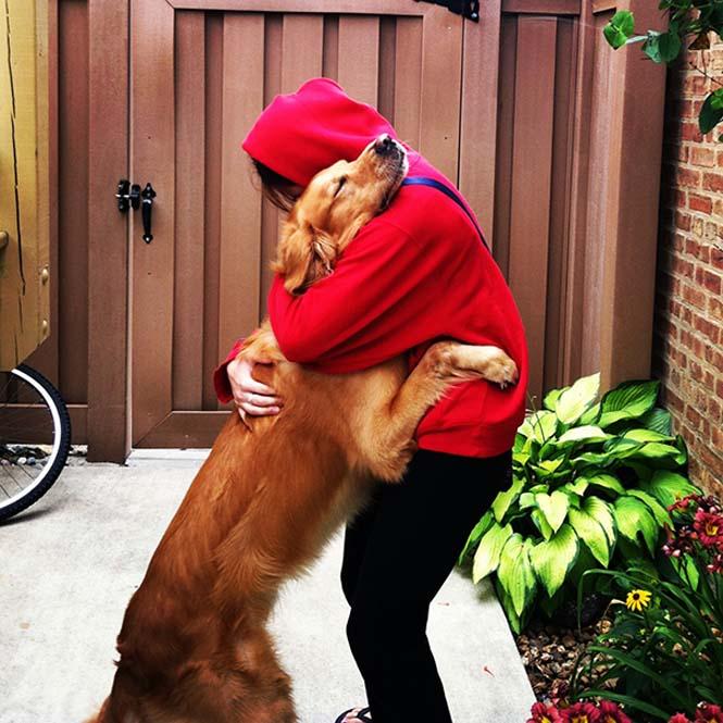 Υπέροχες φωτογραφίες σκύλων που αγκαλιάζουν τον άνθρωπο τους (14)