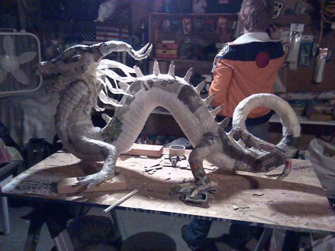 Απίστευτη δημιουργία με την τεχνική παπιέ μασέ (4)