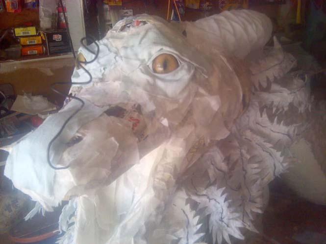Απίστευτη δημιουργία με την τεχνική παπιέ μασέ (5)