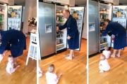 Δίδυμα μωρά κάνουν την ζωή του μπαμπά τους δύσκολη