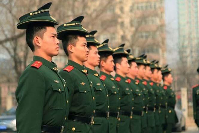Εκπαίδευση κινέζικης αστυνομίας για την στρατιωτική παρέλαση (3)