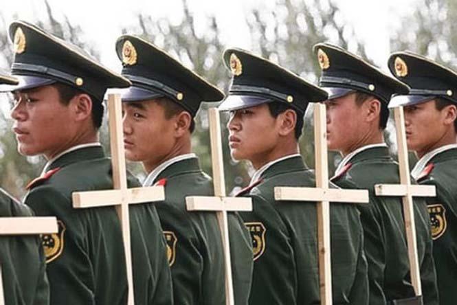 Εκπαίδευση κινέζικης αστυνομίας για την στρατιωτική παρέλαση (4)