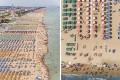 Εναέρια φωτογράφηση μιας τεράστιας οργανωμένης παραλίας