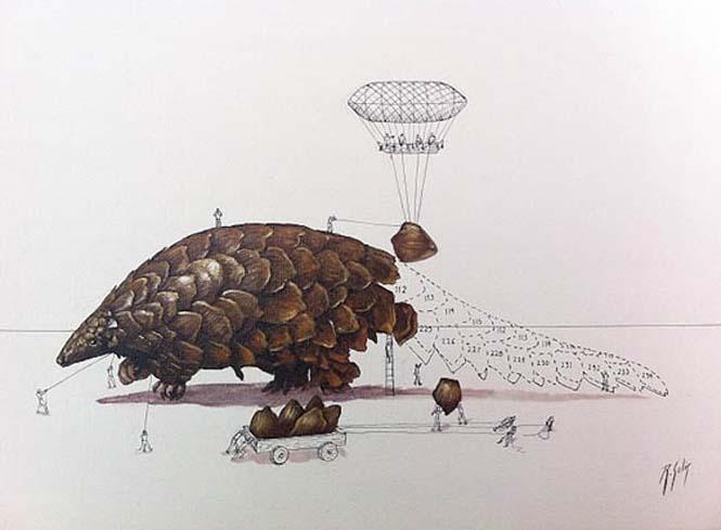Ευφάνταστα σκίτσα απεικονίζουν πως δημιουργούνται τα ζώα (9)