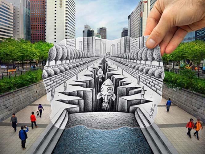 Φωτογραφία + Σκίτσο = Απίστευτη τέχνη (3)