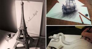 33 από τις καλύτερες 3D ζωγραφιές με μολύβι που ξεπηδούν από το χαρτί