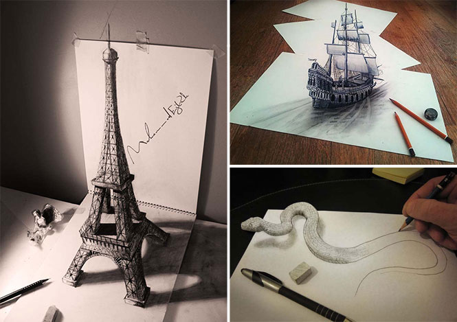 Οι καλύτερες 3D ζωγραφιές με μολύβι