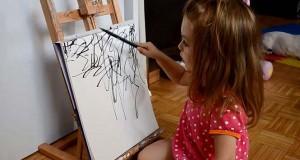 Μητέρα μετατρέπει τα σκίτσα της 2χρονης κόρης της σε πίνακες ζωγραφικής