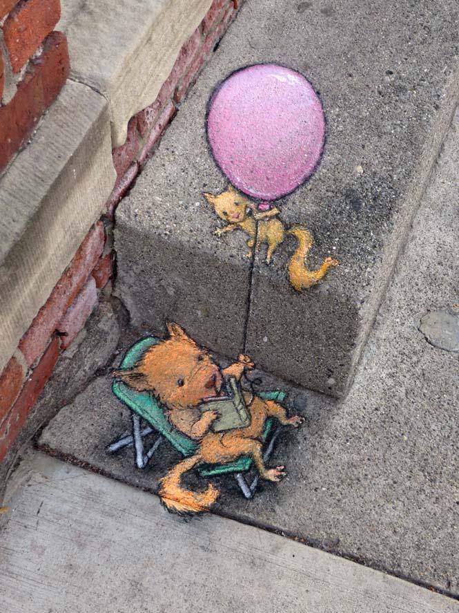 Μοναδική τέχνη του δρόμου από τον David Zinn (2)