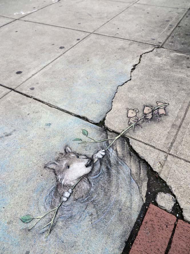 Μοναδική τέχνη του δρόμου από τον David Zinn (3)