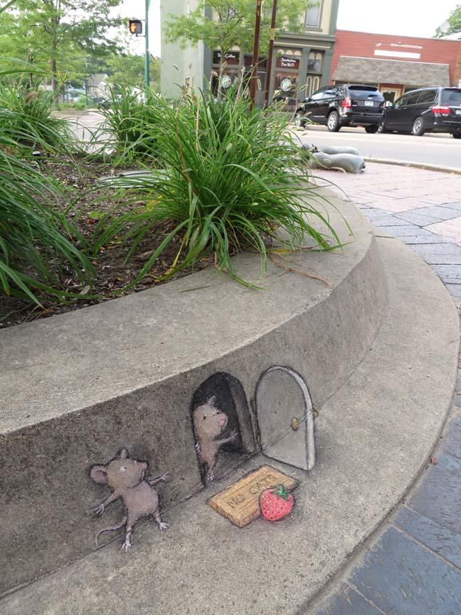 Μοναδική τέχνη του δρόμου από τον David Zinn (7)
