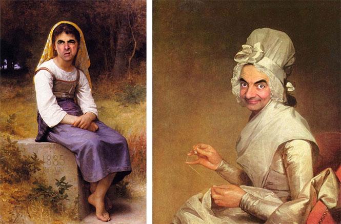 Ο Mr. Bean σε διάσημους πίνακες ζωγραφικής