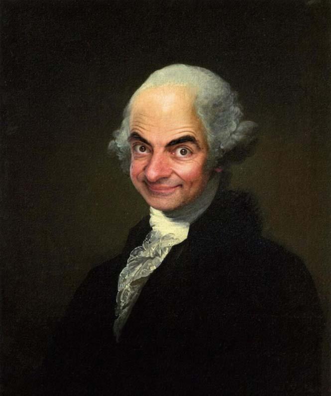 Ο Mr. Bean σε διάσημους πίνακες ζωγραφικής (1)