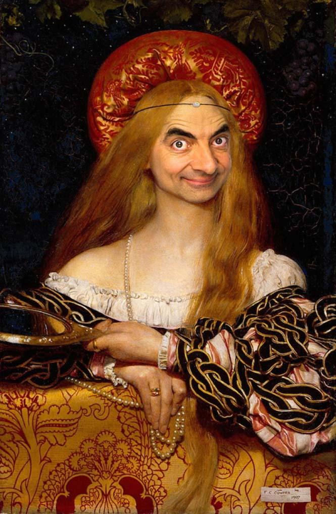 Ο Mr. Bean σε διάσημους πίνακες ζωγραφικής (3)