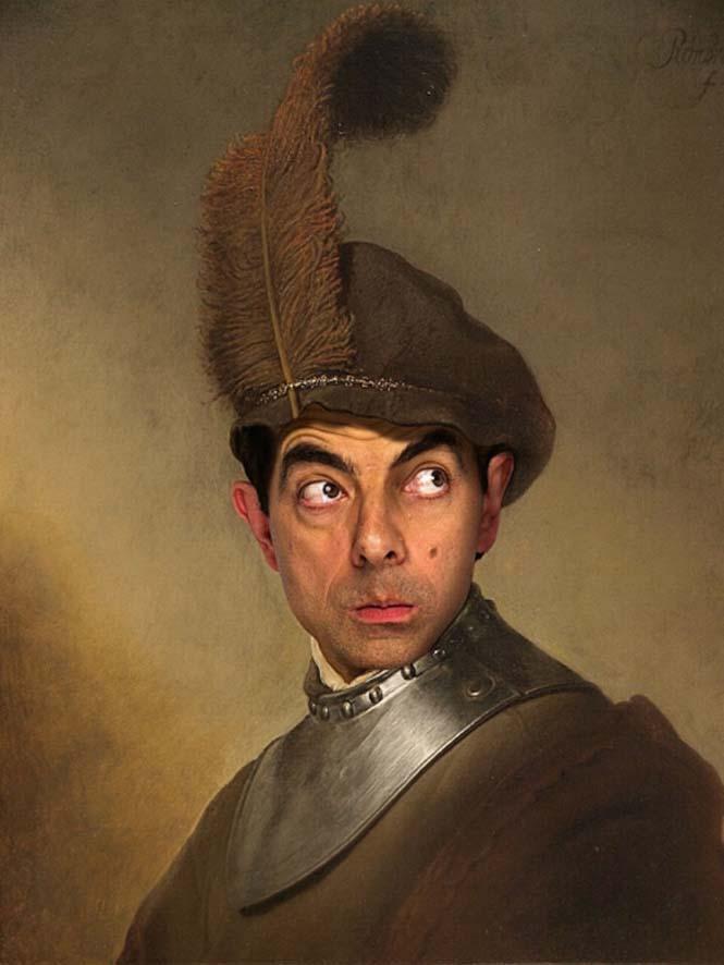 Ο Mr. Bean σε διάσημους πίνακες ζωγραφικής (5)