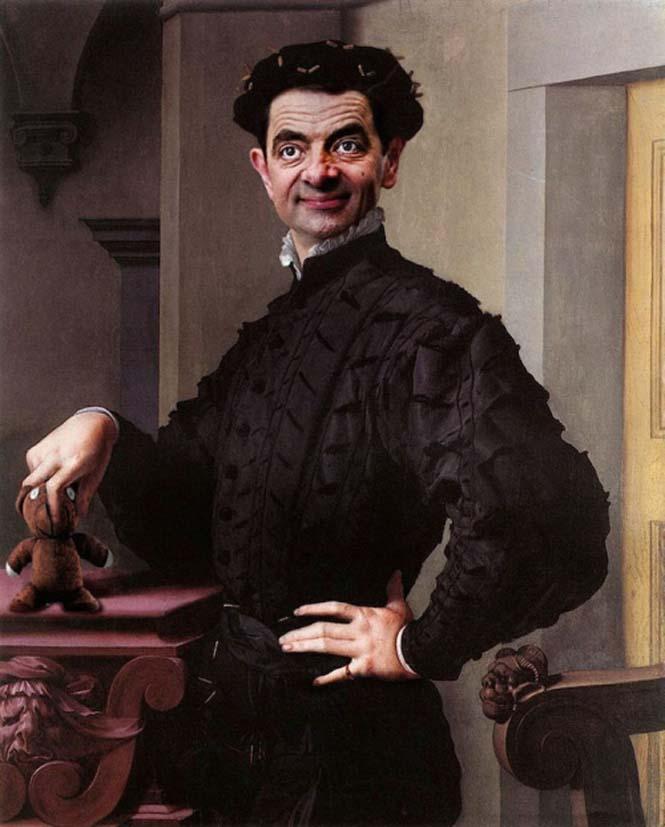 Ο Mr. Bean σε διάσημους πίνακες ζωγραφικής (6)
