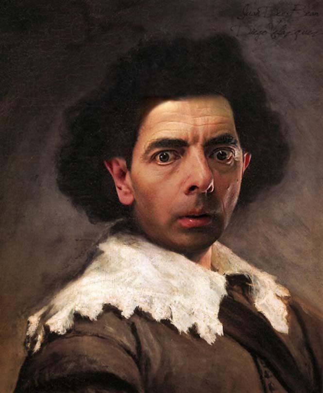Ο Mr. Bean σε διάσημους πίνακες ζωγραφικής (7)