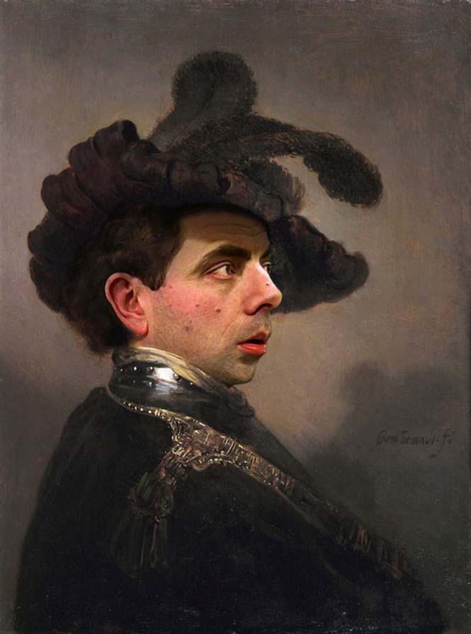 Ο Mr. Bean σε διάσημους πίνακες ζωγραφικής (9)