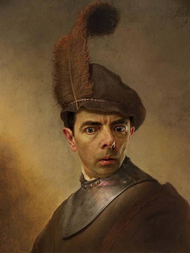 Ο Mr. Bean σε διάσημους πίνακες ζωγραφικής (10)