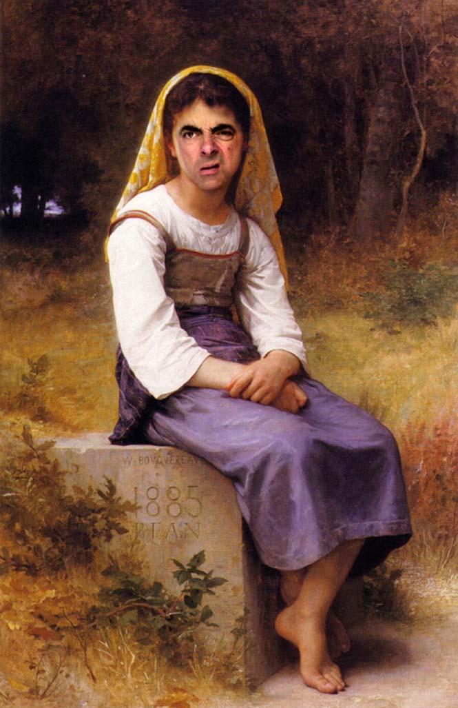 Ο Mr. Bean σε διάσημους πίνακες ζωγραφικής (13)