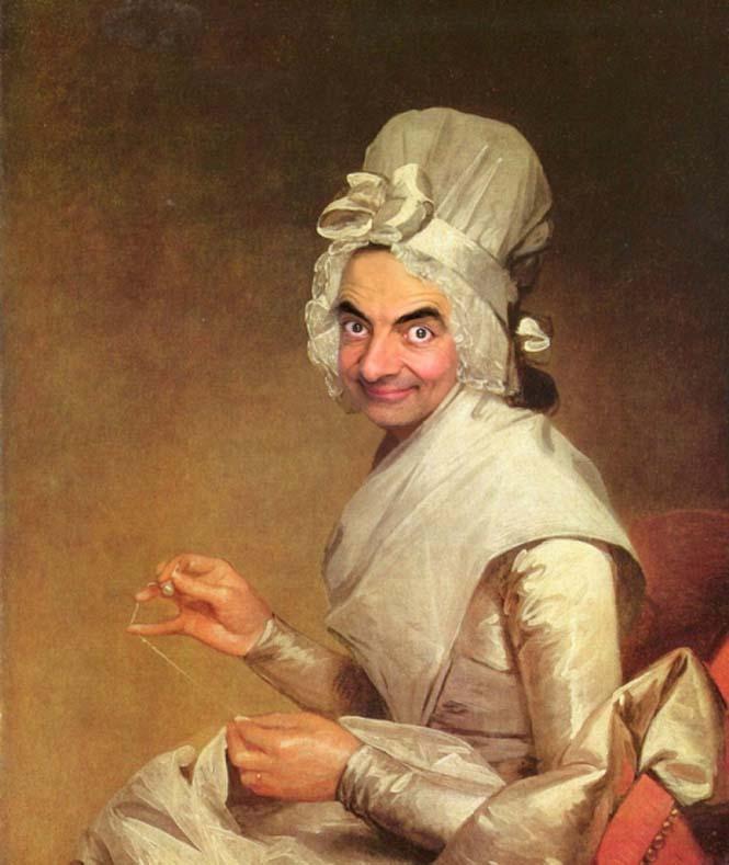 Ο Mr. Bean σε διάσημους πίνακες ζωγραφικής (14)
