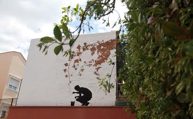 Τέχνη του δρόμου από τον Pejac (2)