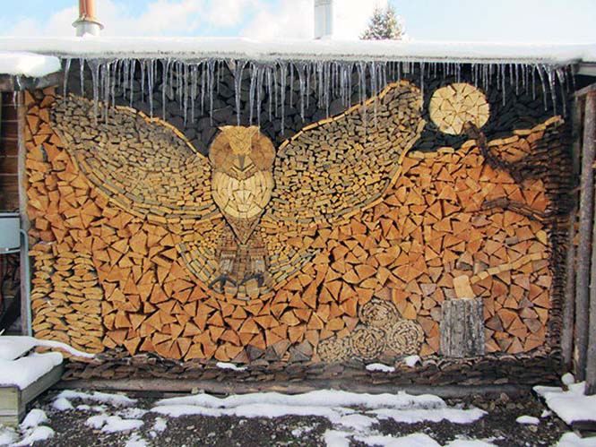 Τέχνη με στοίβες από ξύλα (7)