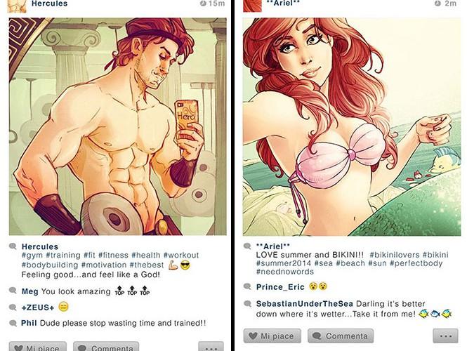 Αν οι χαρακτήρες της Disney είχαν Instagram